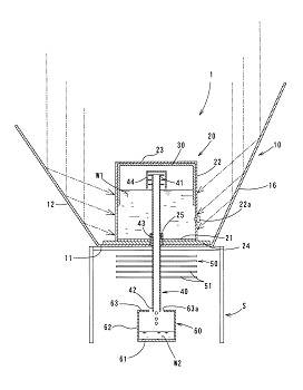 image:Fig.2 Water purification device (purifying rainwater using sunlight)