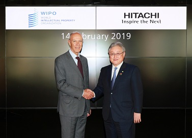photo:Francis Gurry, Director General of WIPO and Toshiaki Higashihara, President & CEO of Hitachi